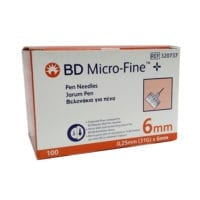 Bd Micro-fine Pen Needles 31g 0.25x6mm Ref 320737 100s