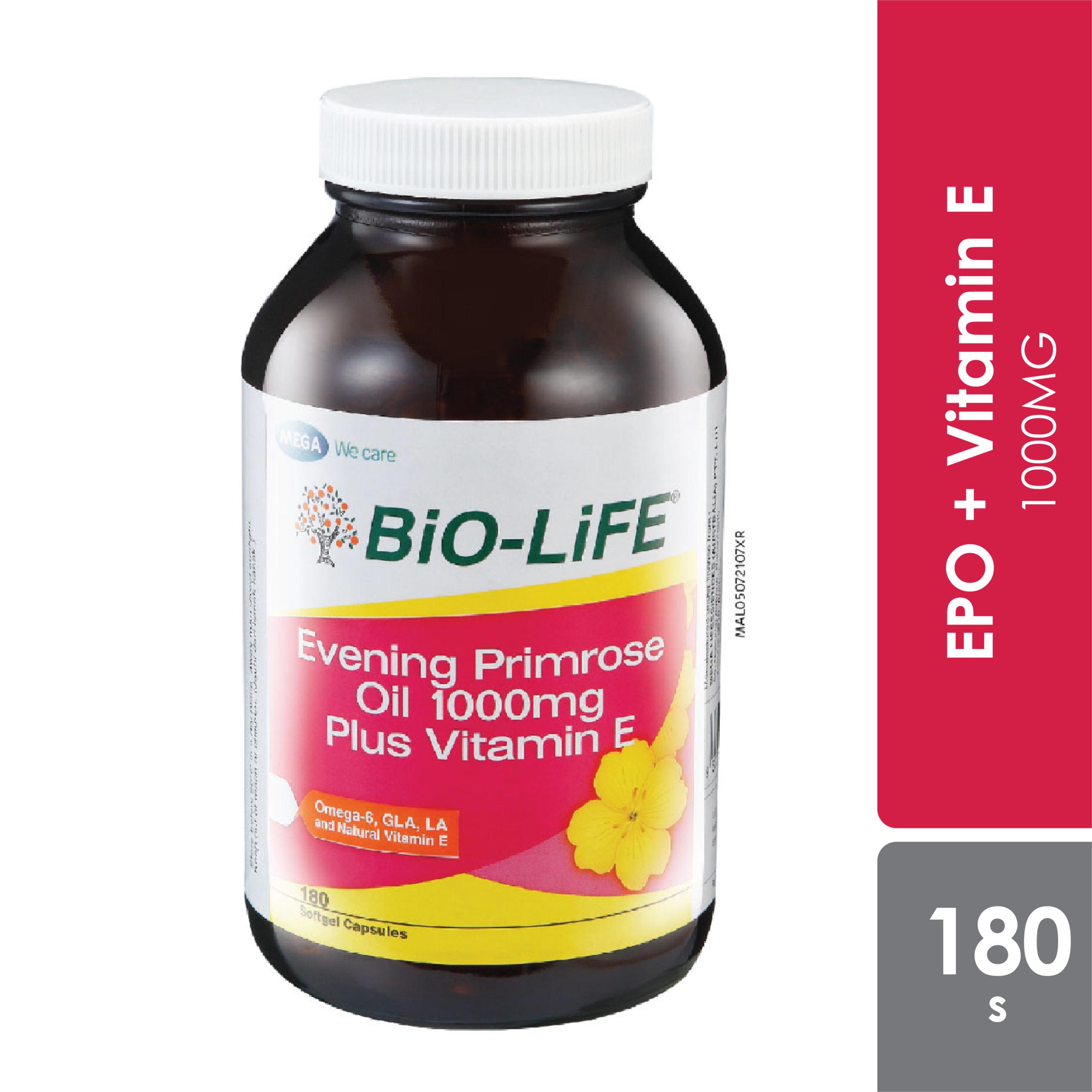 Bio-life Epo 1000mg Plus Vitamin E 180s