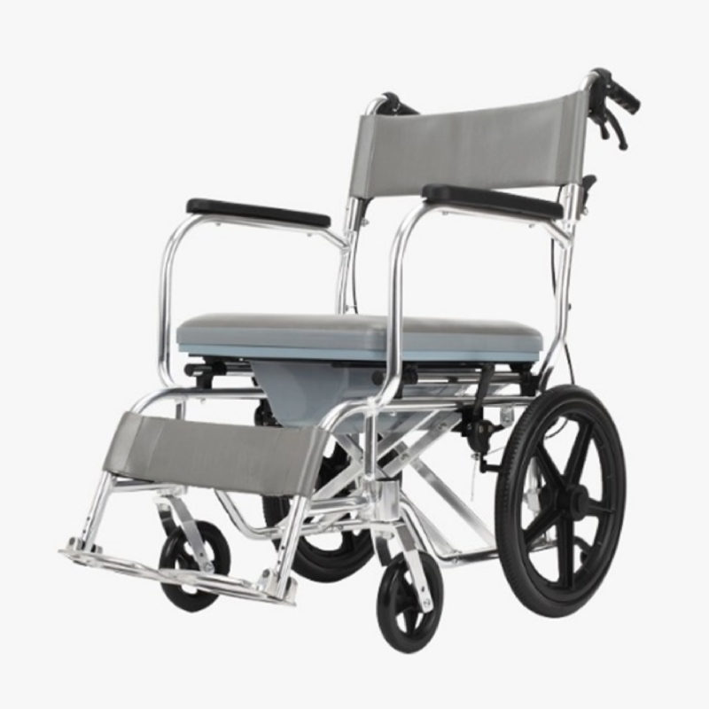 Moven 606labj 16- Inch Premium Commode Wheelchair