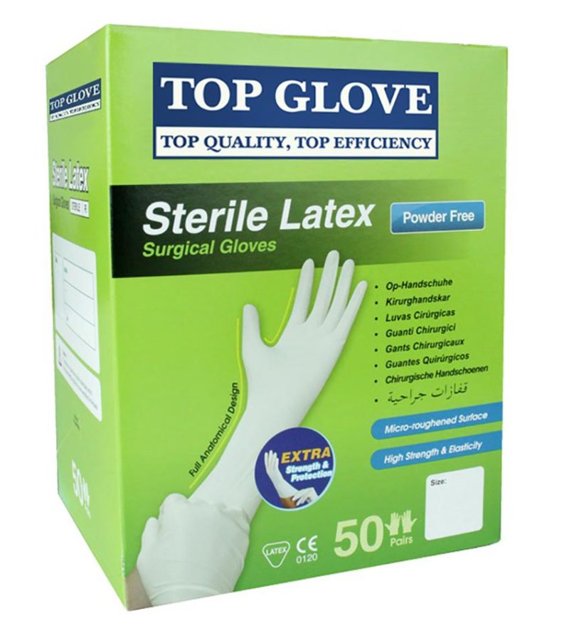 Top Glove Surgical Gloves Powder Free Size6.5 50s