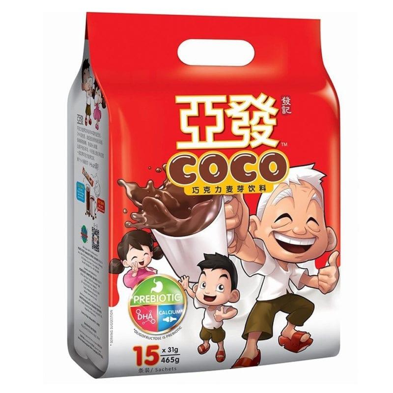 Ah Huat Coco Chocolate Malt Drink 15x31g