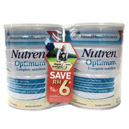 Nestle Nutren Optimum Complete Nutrition Drink Vanilla (800g X 2)