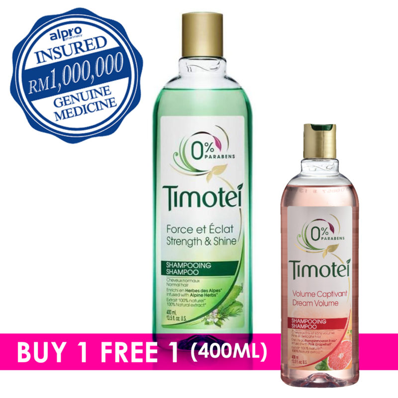 Timotei Strengh &shine Shampoo 400ml