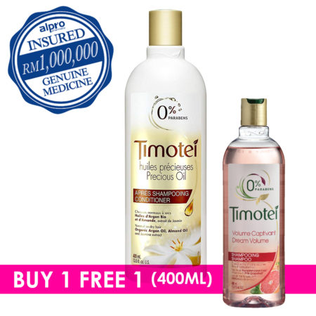 Timotei Precious Oils Shampoo 400ml With Free Extra 1 Bottle 400ml (randomly Pick)