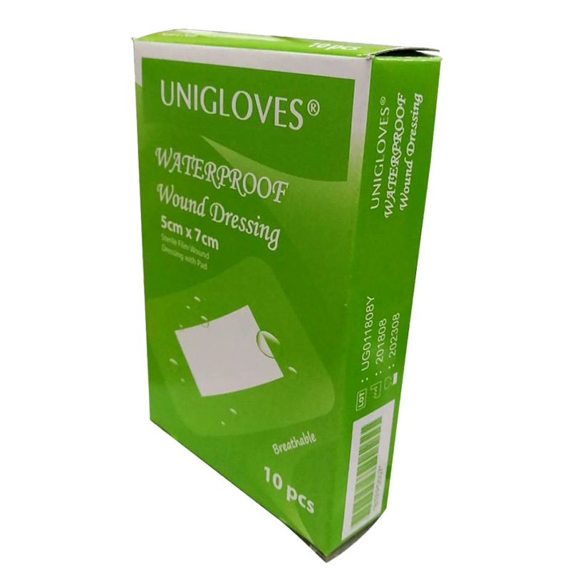 Unigloves Sterile Film Dressing With Pad 5cmx7cm 10s