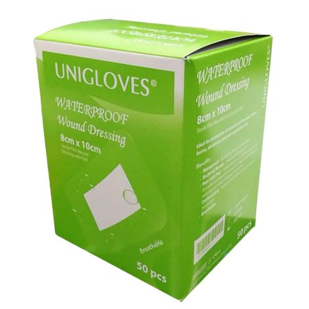 Unigloves Sterile Film Dressing With Pad 8cmx10cm 50s