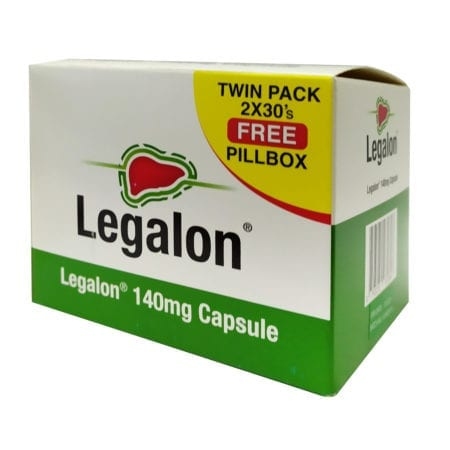 Legalon 140mg 2x30s Free Pill Box