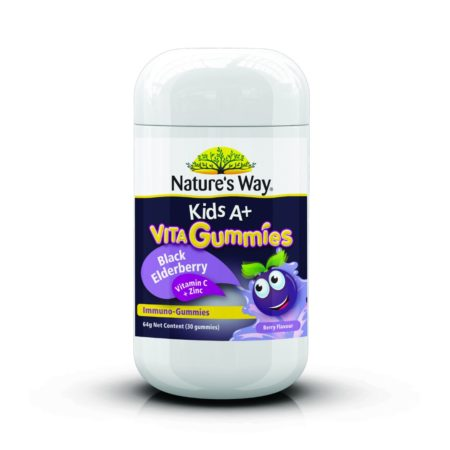 Natures Way Kids A+ Vita Gummies Black Elderberry 30s