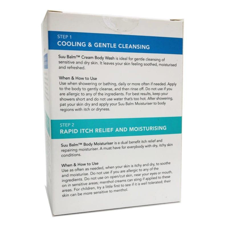 Suu Balm Rapid Itch Relief Starter Kit (wash + Moisturizer)