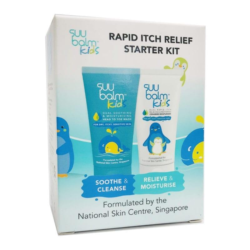 Suu Balm Kids Rapid Itch Relief Starter Kit (wash + Moisturizer)