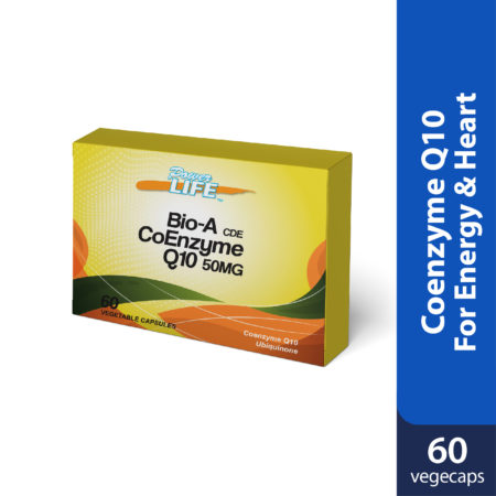Powerlife Bio-A CDE Coenzyme Q10 is better absorption, gives energy and healthy heart.
