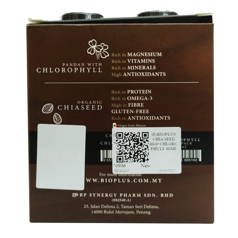 Bioplus Chia Seed 80g+chlorophyll 80ml