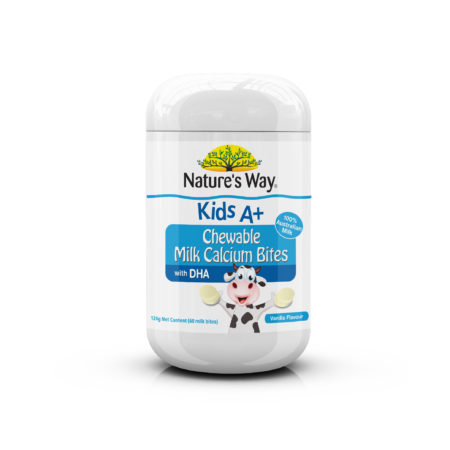 Natures Way Kids A+ Milk Calcium Bites 60s