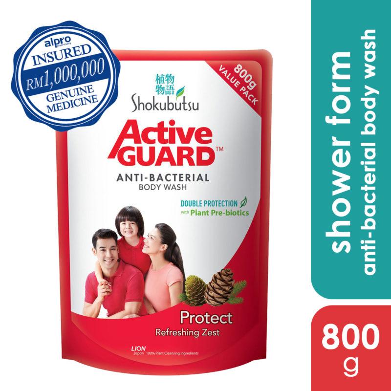 Shokubutsu Active Guard Anti-bacterial Refill 800g