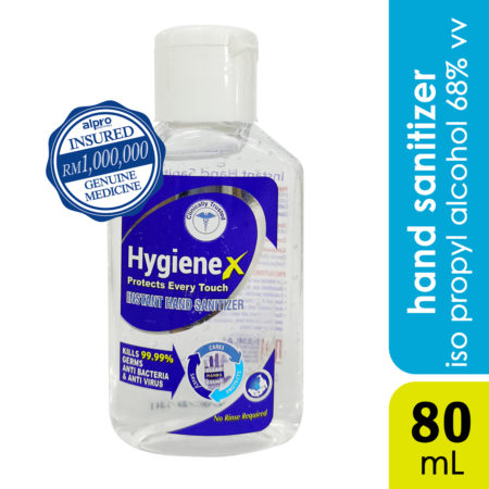 Hygiene X Instant Hand Sanitizer 80ml