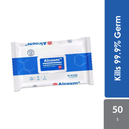 Alcosm 75% Alcohol Wipes 150x200mm 50s