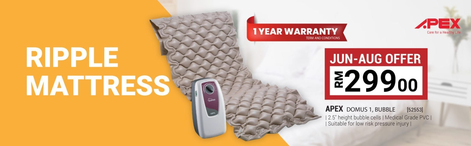 Alpro Pharmacy Oneclick silver care Ripple Mattress