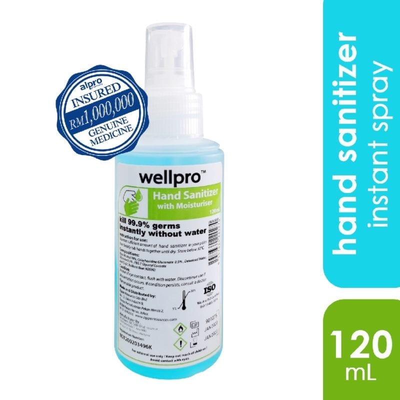 Wellpro Hand Sanitizer Spary 120ml