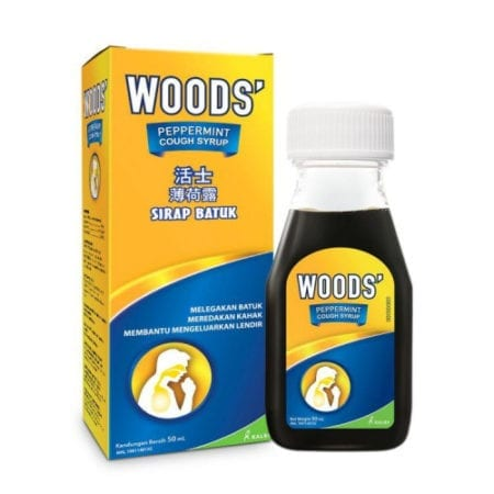 Woods Peppermint Syrup Adult 50ml