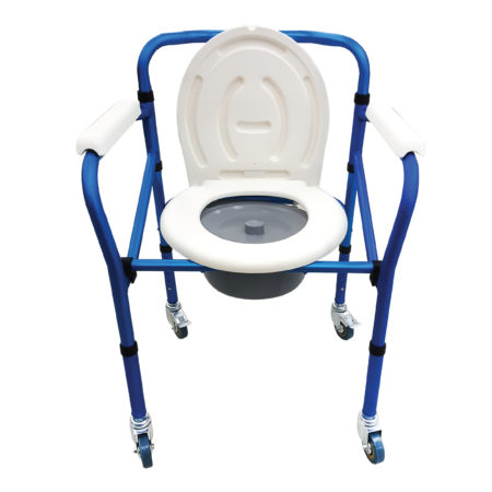 Anzen Alum Folding Commode, Mobile BA516L