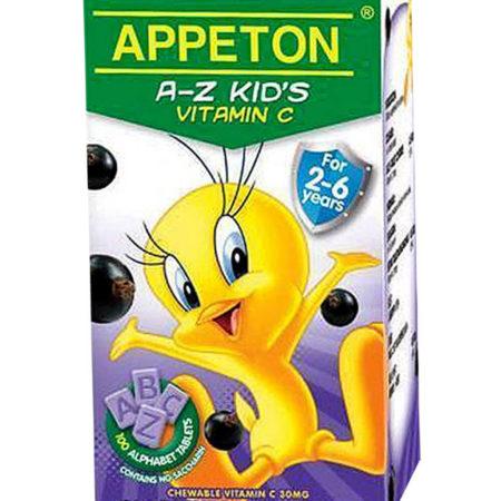 Appeton A-z Kids Vit.c Blackcurrant 100s