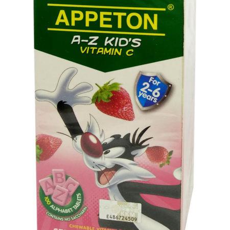 Appeton A-z Kids Vit.c Strawberry 100s
