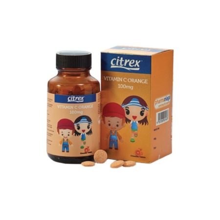 Citrex Junior Vit.C 100Mg Orange 90S