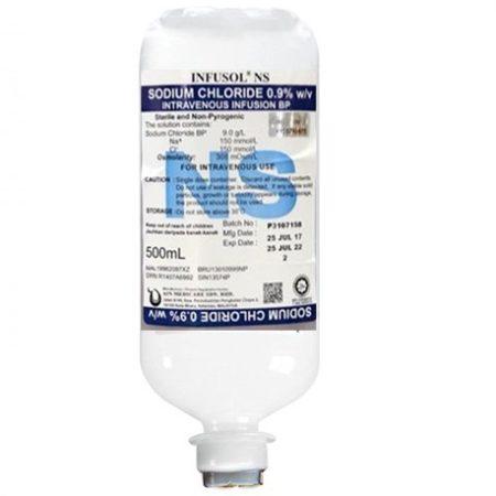 Infusol Sodium Chloride 0.9% Injection 500ml