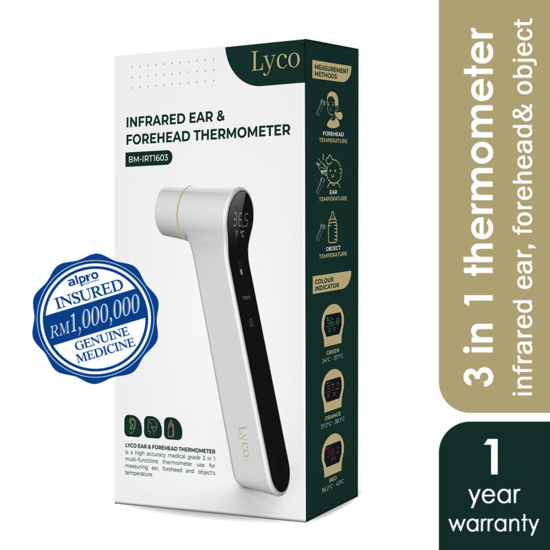 Lyco Infrared Ear & Forehead Thermometer