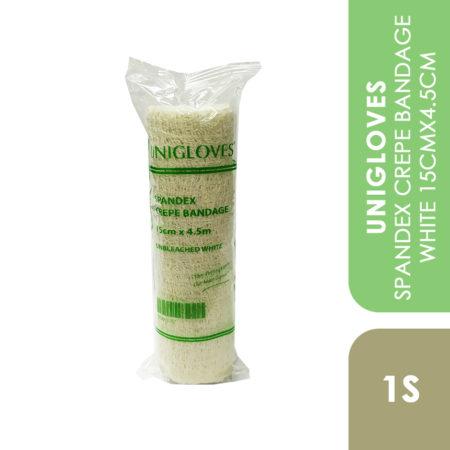 Unigloves Spandex Crepe Bandage White 15cmx4.5cm 1s