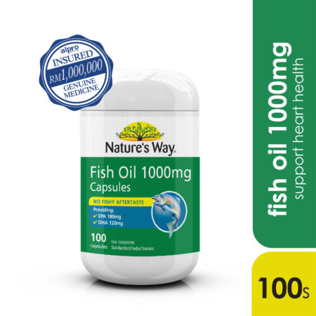 (ws)natures Way Odourless Fish Oil 1000mg 100s