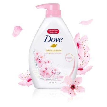 Dove Sakura Blossom Body Wash 1L