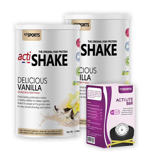 {20 Days Weight Loss Package 2} Actishake Vanilla (Twin Pack) + Actilite BBR 60s