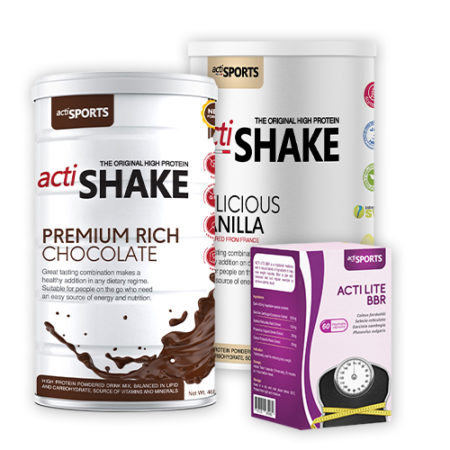 {20 Days Weight Loss Package 3} Actishake Chocolate & Vanilla + Actilite BBR 60s (Copy)