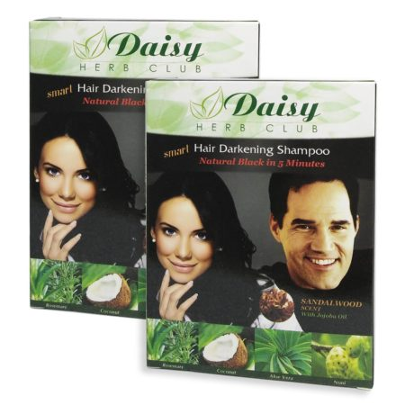 DAISY HAIR DARKENING SHAMPOO NATURAL BLACK 25ML