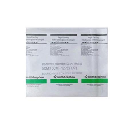 S&n Sterile Gauze Swabs 5cmx5cmx12plyx5s 20s