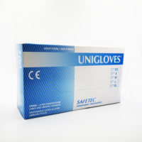 Unigloves Safetec Latex Gloves L (powdered) 100s
