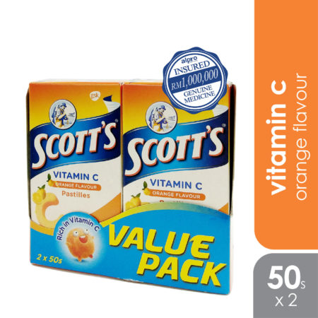 Scotts Vit.c Pastilles Orange 100g 2x50s