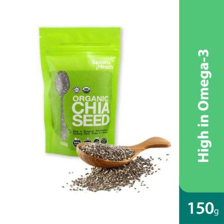 Spoon Health Organic Chia Seed 150g (pouch)