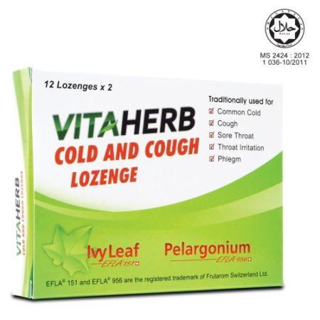 Vitaherb Cold And Cough Lozenge 2x12s