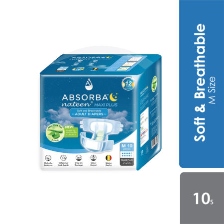 Absorba Nateen Maxi Plus Adult Diapers (m) 10s
