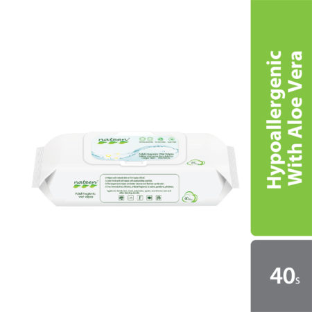 Absorba Nateen Adult Wet Wipes With Aloe Vera 40s