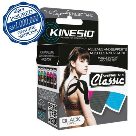 Kinesio Tex Classic Black 5cmx4m