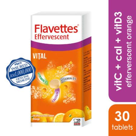 Flavettes Vital Effervescent Orange 30s
