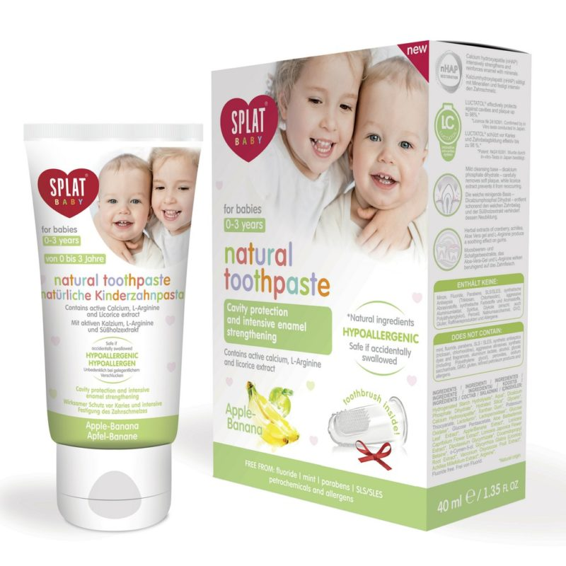 Splat Baby Toothpaste (Apple-Banana) With Finger-Tip Toothbrush 40ml