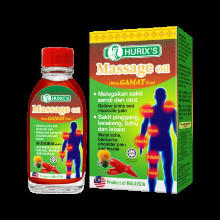 Hurixs Massage Oil 21ml Gamat Plus 21ml