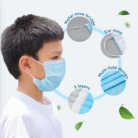 Medimask Surgical Disposable Kids Face Mask Bmk098w (ear Loop) 50s