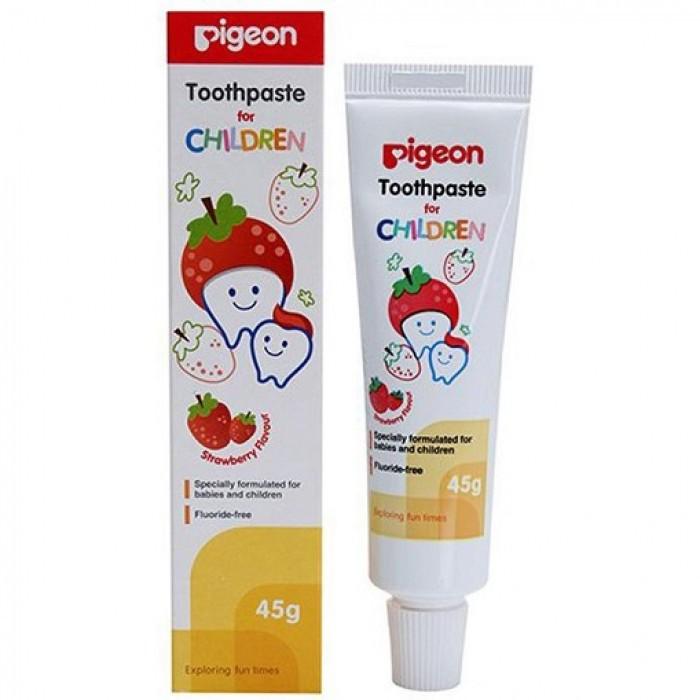 Pigeon Toothpaste Children Strawberry Flavour 45g
