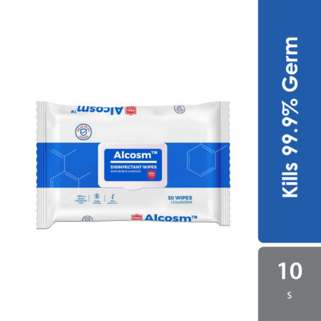 Alcosm 75% Alcohol Wipes 150x200mm 10s