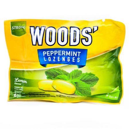 Woods Peppermint Lozenges Lemon 15g 15x6s